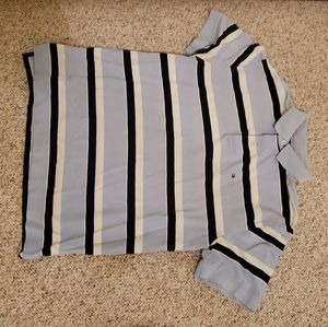 Tommy Hilfiger large light blue polo with striping